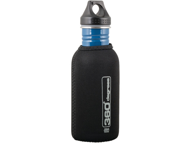 360° degrees Stainless Drink Bottle Neoprene Pouch 550ml black